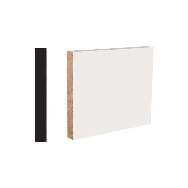 "17mm x 5-1/2"" x 8' White MDF Block Baseboard"