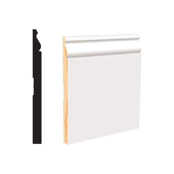 White Primed Finger Joint (PFJ) Colonial Baseboard-  8 lft per piece
