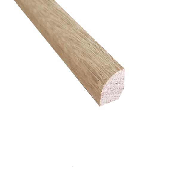 Unfinished White Oak Hardwood 3/4 in thick x .5 in wide x 8 ft Length Shoe Molding