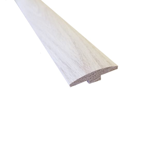 Unfinished Red Oak Hardwood 1/4 in thick x 2 in wide x 8 ft Length T-Molding