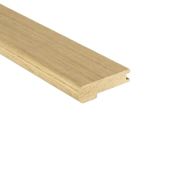 Unfinished Red Oak Hardwood Stair Nose 3/4 in thick x 3.5 in wide x 8 ft Length
