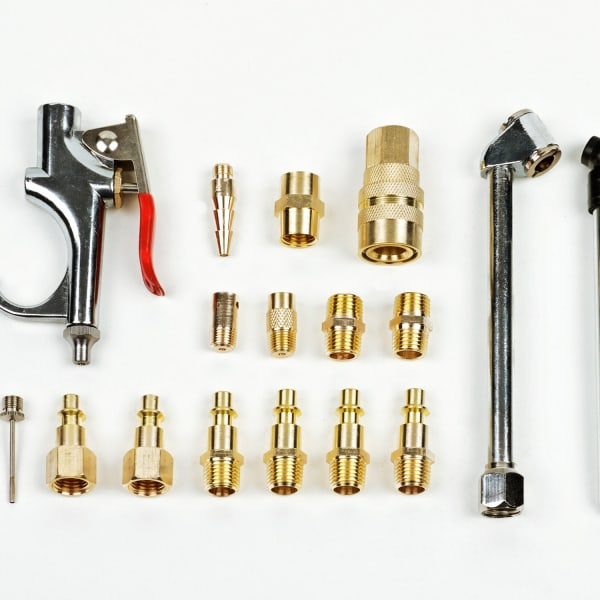 Inflation Kit features a steel and brass construction