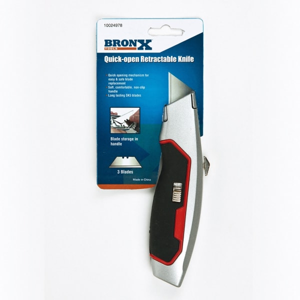 Cushioned grip utility knife