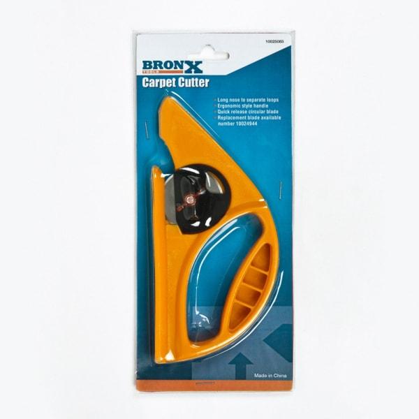 Carpet Cutter - Comfort Grip heat treated machined steel blade