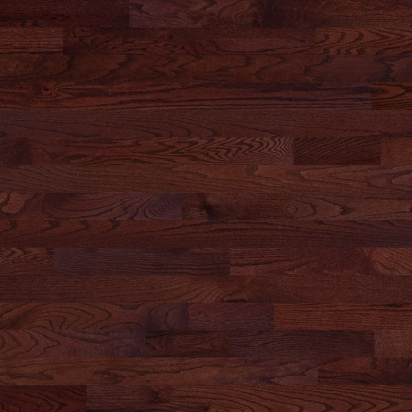 Red .75 in. x 3 .25 in. Cherry Oak Solid Hardwood Flooring Large Swatch