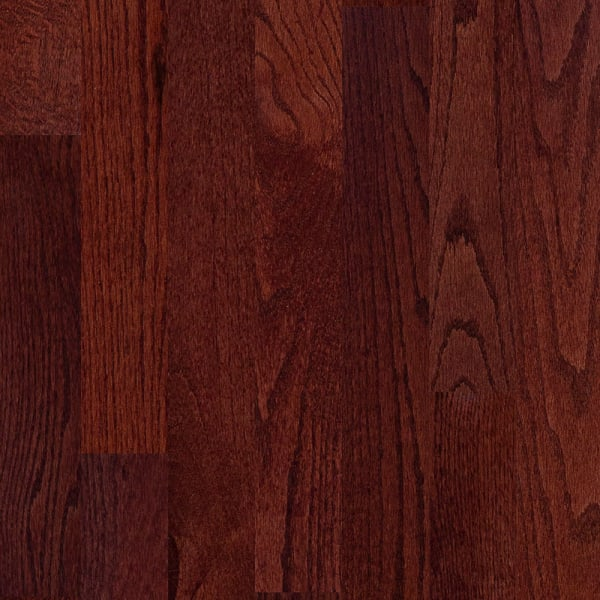 Red .75 in. x 3 .25 in. Cherry Oak Solid Hardwood Flooring Small Swatch