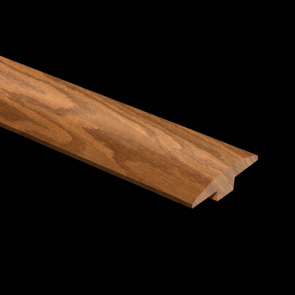 Prefinished Classic Gunstock Oak Hardwood 5/8 in thick x 2 in wide x 6.5 ft Length T-Molding