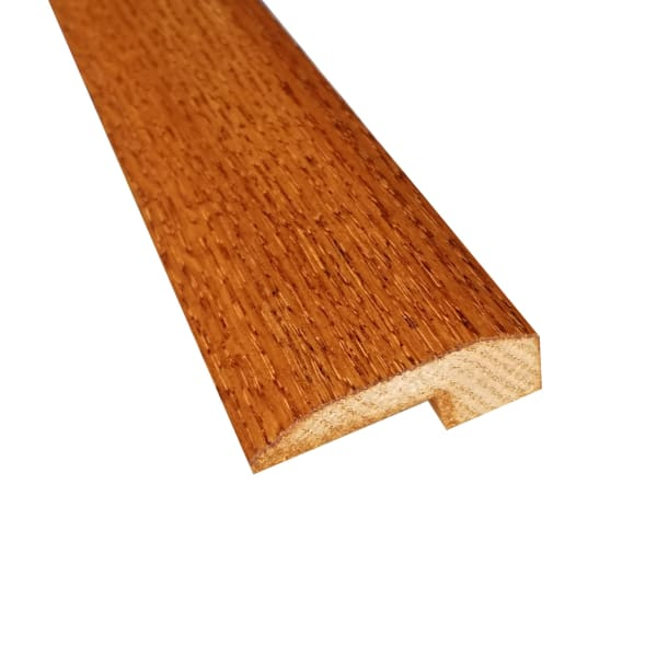 Prefinished Classic Gunstock Oak Hardwood 5/8 in thick x 2 in wide x 6.5 ft Length T-Moldin