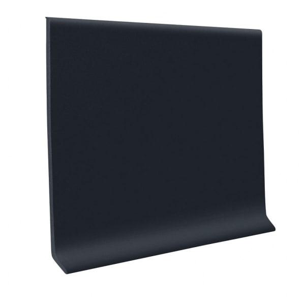 Wall Baseboard Vinyl - Black - 4 in