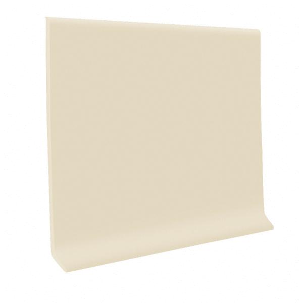 Almond Vinyl Waterproof 4 in wide x 120 ft Length roll Vinyl Wall Base