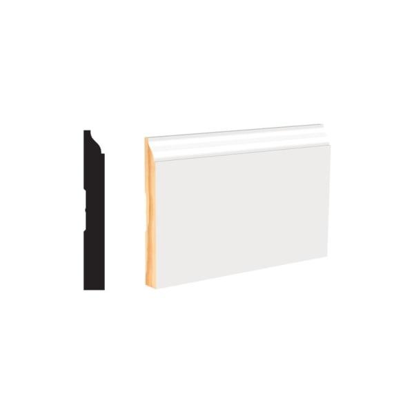 "White Wood Molding -Baseboard 4-1/4"""