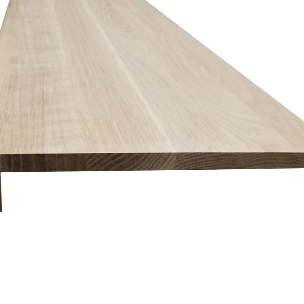 Unfinished White Oak Solid Hardwood 5/8 in thick x 11.5 in wide x 36 in Length Retro Fit Tread