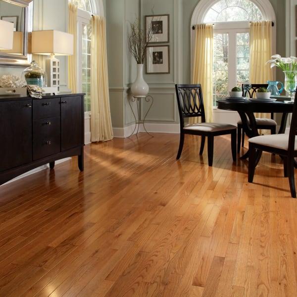 Butterscotch Oak Solid Hardwood Flooring in Dining Room