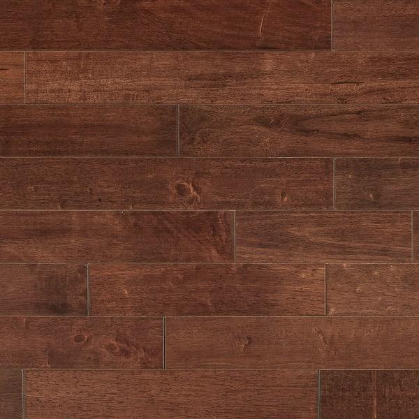 3/4 in. x 3.5 in. Moroccan Cherry Hevea Solid Hardwood Flooring