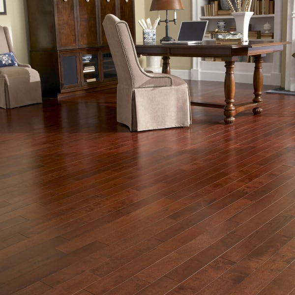 Moroccan Cherry Hevea Solid Hardwood in Dining Room