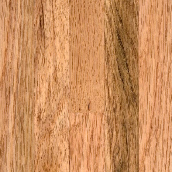 .75 in. x 2 .25 in. Natural Red Oak Solid Hardwood Flooring Small Swatch
