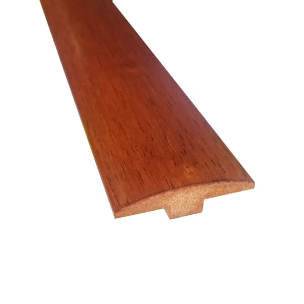 Prefinished Copper Hevea Hardwood 1/4 in thick x 2 in wide x 78 in Length T-Molding