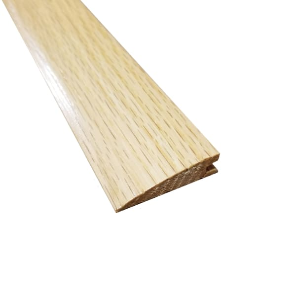 Prefinished Natural Red Oak Hardwood 3/8 in thick x 1.5 in wide x 78 in Length Reducer