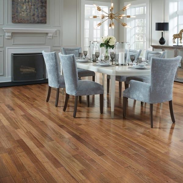Brazilian Cherry Solid Hardwood Flooring in Dining Room