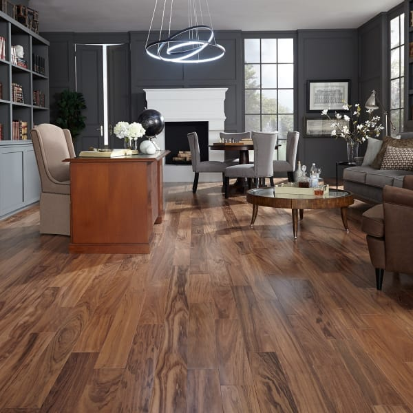 Curupay Solid Hardwood Flooring in Office and Living Room