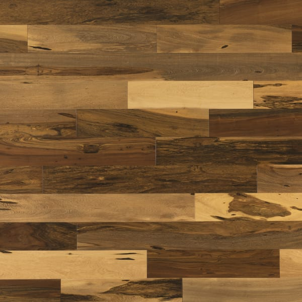 Brown .75 in. x 4 in. Matte Brazilian Pecan Natural Solid Hardwood Flooring Large Swatch