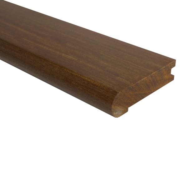 Prefinished Brazilian Walnut Hardwood 3/4 in thick x 3.125 in wide x 78 in Length Stair Nose