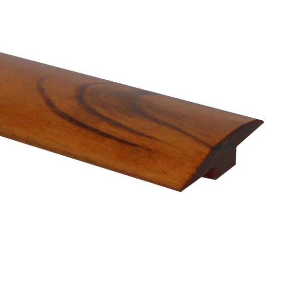 Prefinished Brazilian Koa Hardwood 1/4 in thick x 2 in wide x 78 in Length T-molding