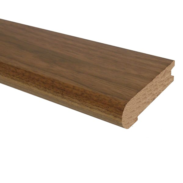 Prefinished Matte Brazilian Pecan Hardwood 3/4 in thick x 3.125 in wide x 78 in Length Stair Nose