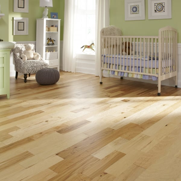 3/8 in. x 5 in. Natural Hickory Distressed Engineered Hardwood Flooring