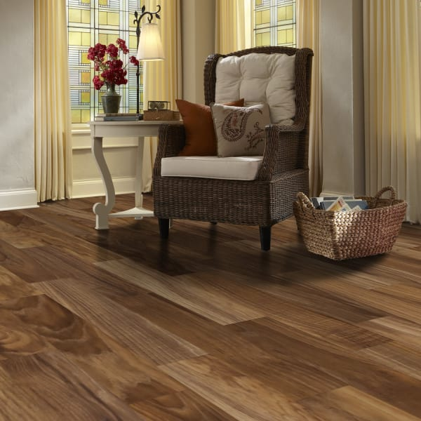 Fairfield County Hickory Laminate Flooring in Living Room