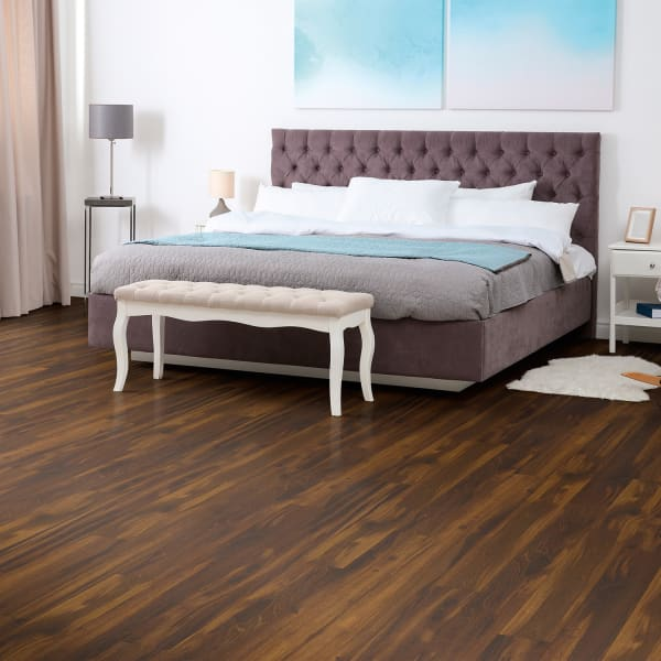 Roasted Chicory Laminate Flooring in Bedroom