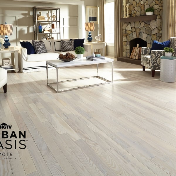 3/4 in. x 5 in. Matte Carriage House White Ash Solid Hardwood Flooring