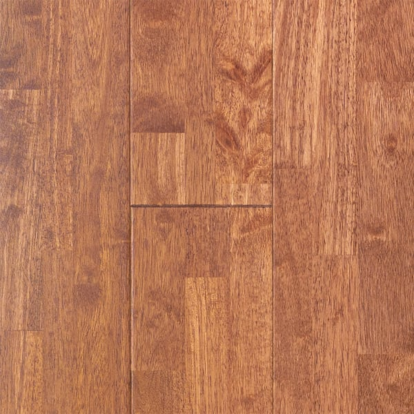 .75in x 6in Copper Hevea Solid Hardwood Small Swatch