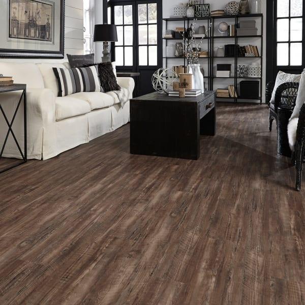 Rustic Reclaimed Oak Luxury Vinyl Plank Flooring in Living Room