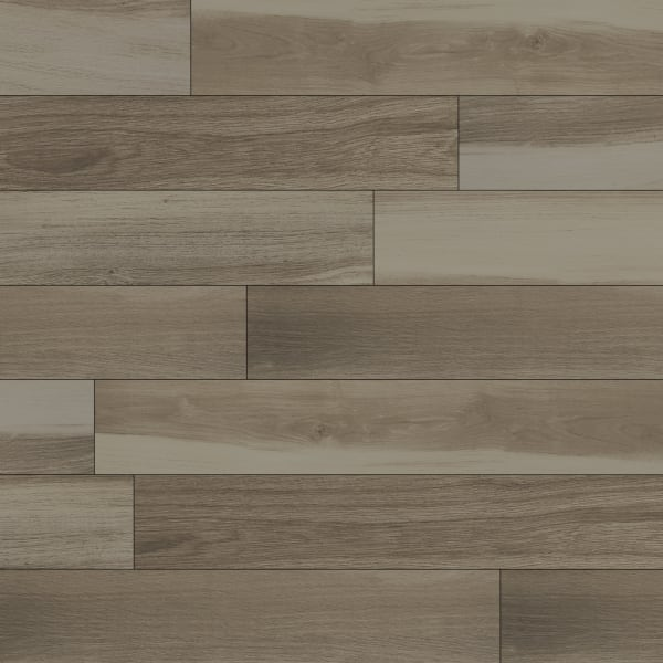 36in x 6in Brindle Wood Natural Porcelain Tile Large Swatch