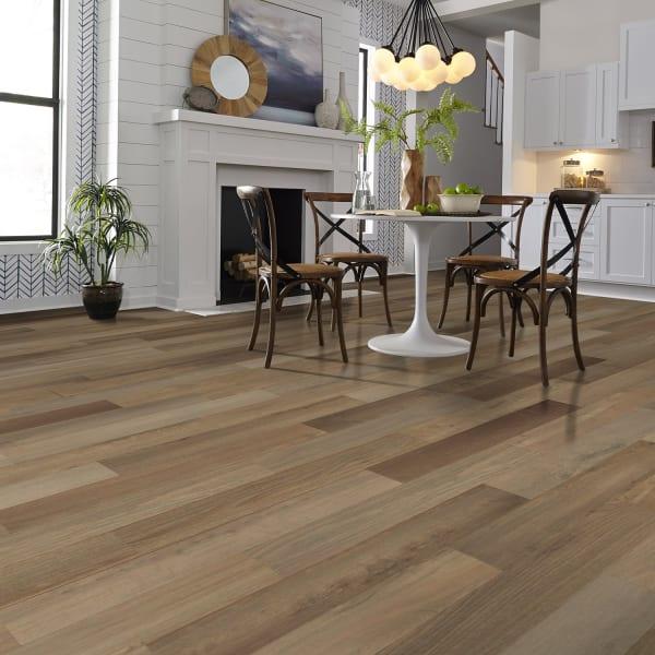 Pewter Oak Laminate Flooring in Kitchen