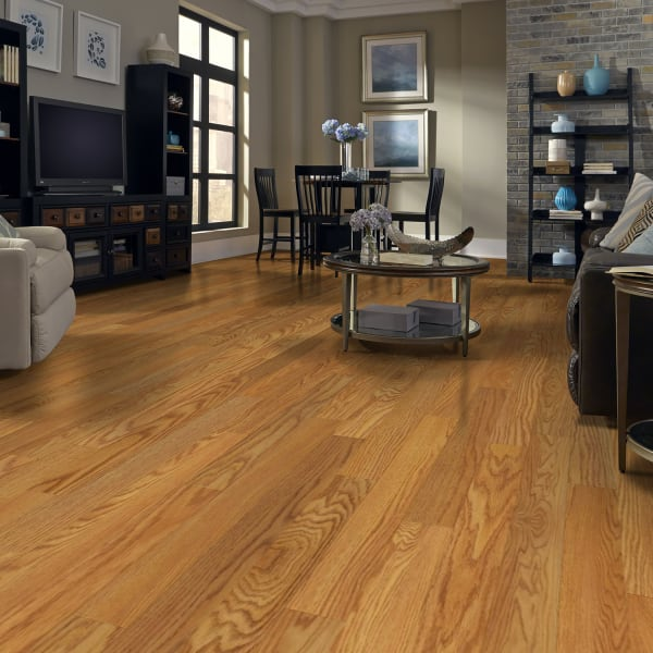 Select Red Oak Laminate Flooring in Living Room