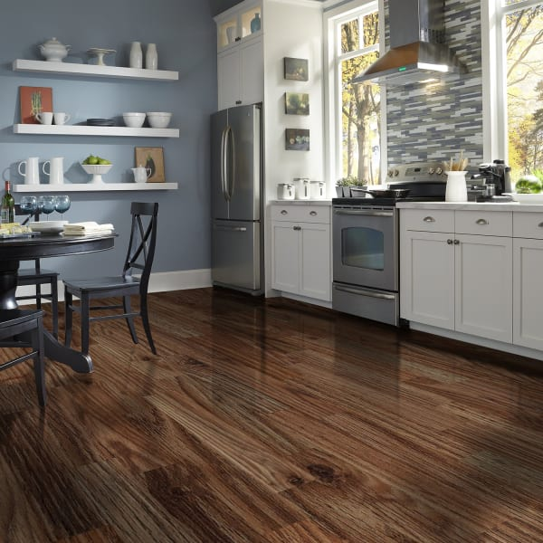 Ebb Tide Oak Laminate Flooring in Kitchen