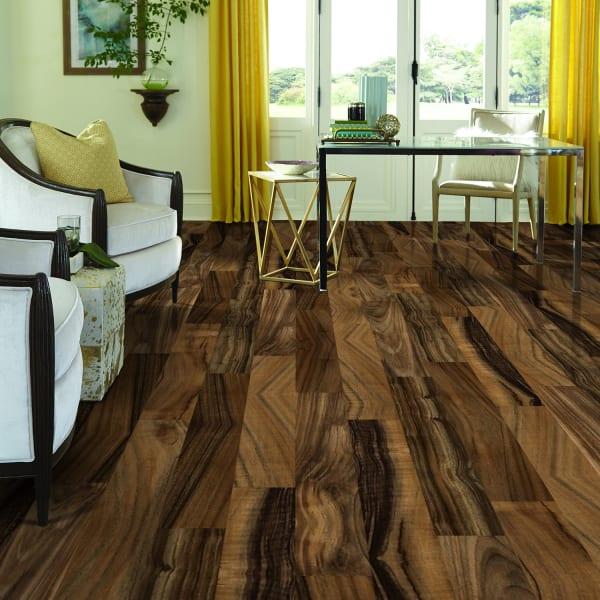 Heritage Walnut Laminate Flooring in Living Room