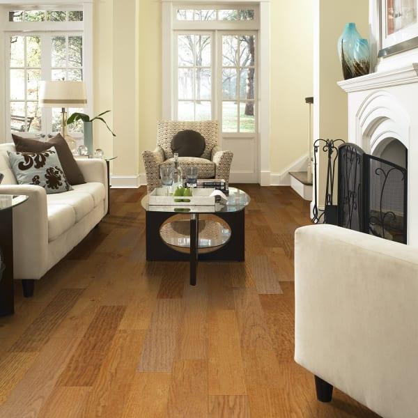 2mm Gunstock Oak Luxury Vinyl Plank Flooring in Living Room