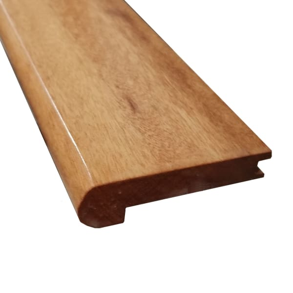 Prefinished Brazilian Koa Hardwood 1/2 in thick x 2.75 in wide x 78 in Length Stair Nose