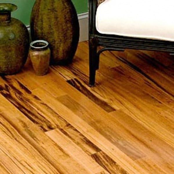 Select Brazilian Koa Solid Hardwood Flooring in Living Room