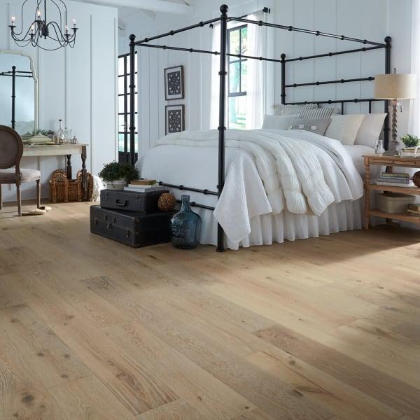 Whispering Wheat Oak Engineered Hardwood Flooring in Bedroom