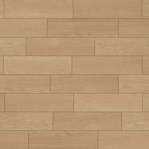 24 in. x 6 in. Classic Red Oak Porcelain Tile Large Swatch