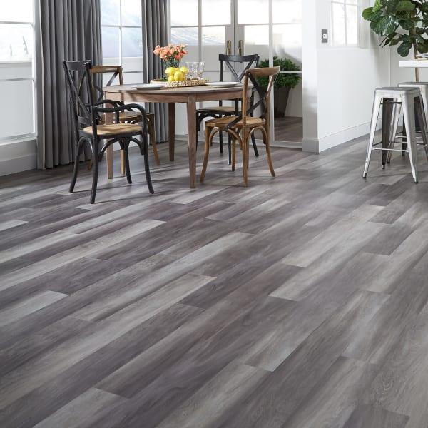 Luxury Vinyl Plank Flooring in Dining Room and Kitchen