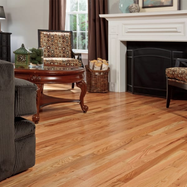 Red Oak Solid Hardwood Flooring in Living Room