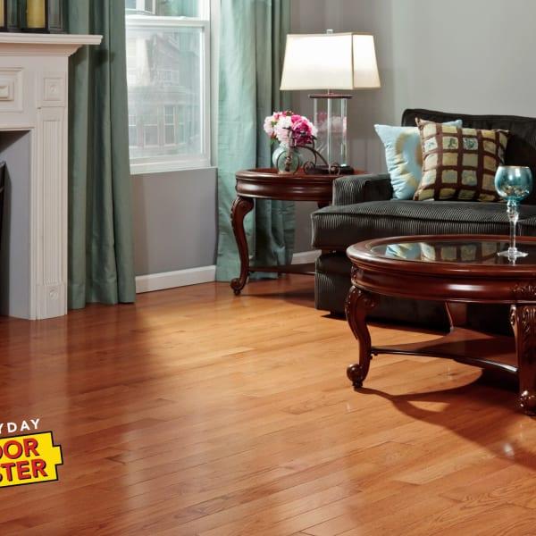 Gunstock Oak Solid Hardwood Flooring in Living Room