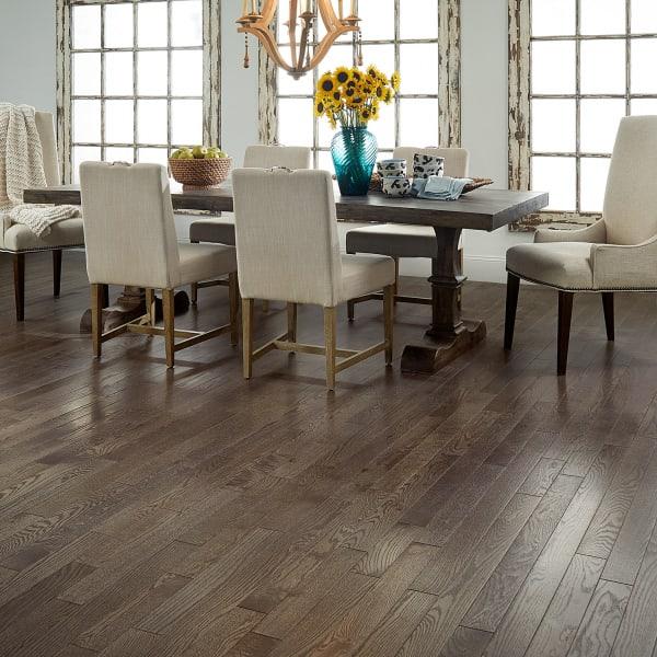 Gray Fox Oak Solid Hardwood Flooring in Dining Room