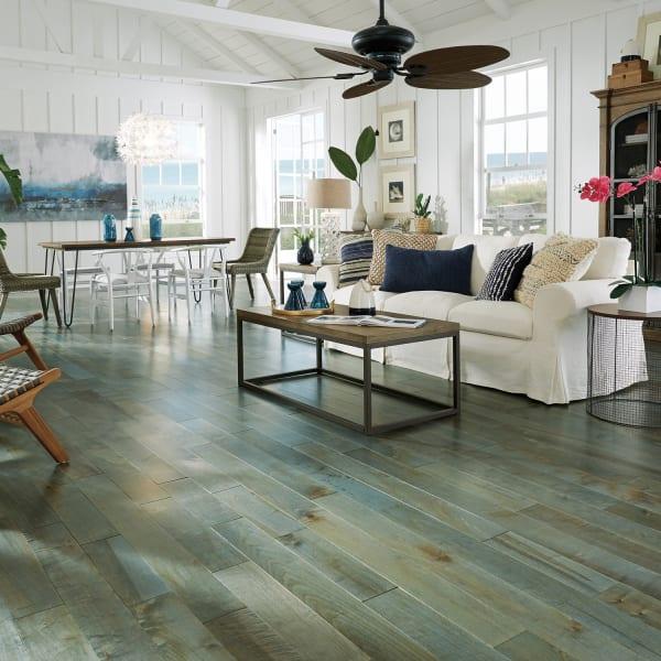 .75 in. x 5 in. Mediterranean Maple Solid Hardwood Flooring in Glam Living Room
