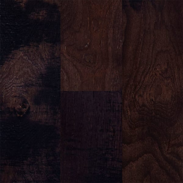 .75 in. x 5 in. Pioneer Leather Hickory Solid Hardwood Flooring Small Swatch